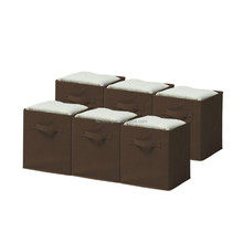 high density fabric with double handles chocolate cloth storage containers