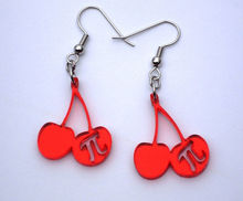 Red Cherry Acrylic Charm/ Plexiglass Earrings
