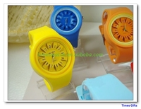 2016 Custom silicone watch Sunflower couples Watch