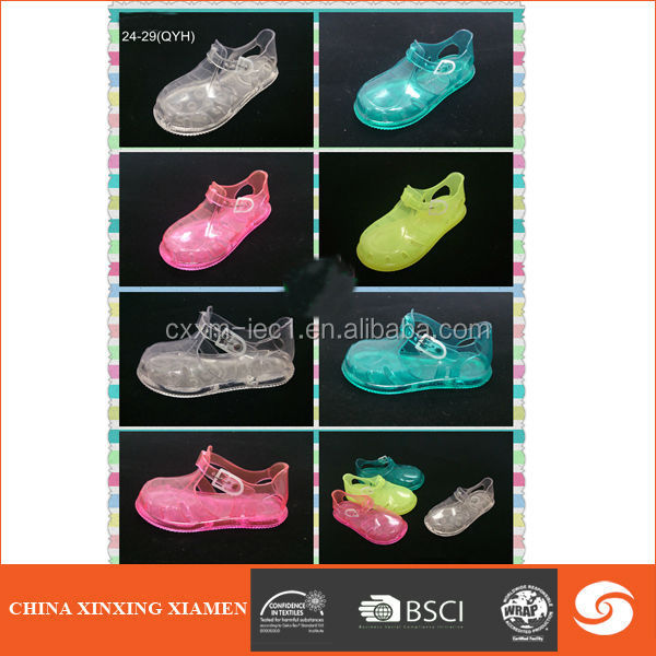 2015 Top sale transparent kid shoe child kid jelly sandal
