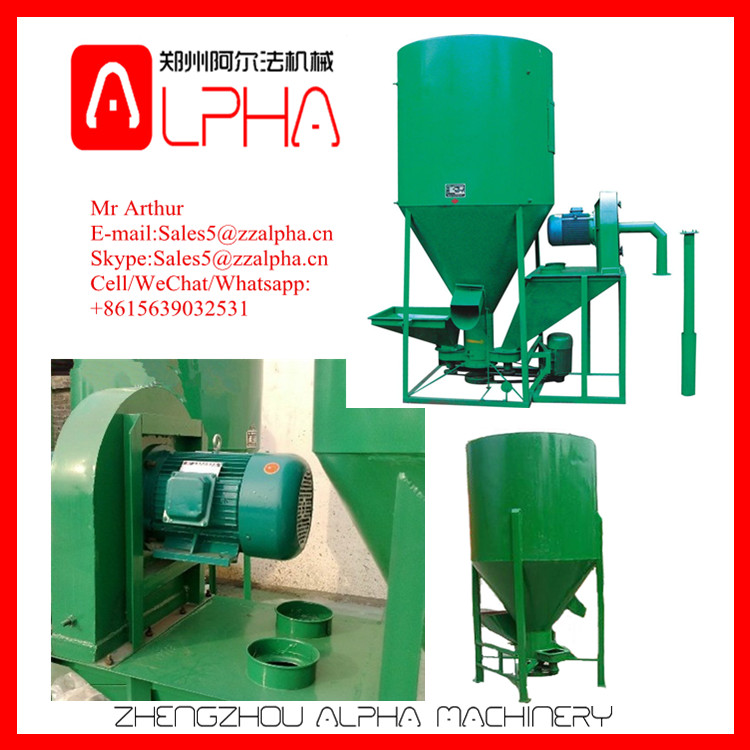 Multi-Function Feed Mixer Mill/Animal Fodder Crushing Mixing Machine