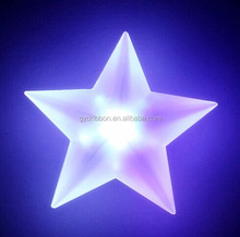 Lighted Star shaped glitter plastic christmas decoration for party decoration
