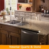 Quartz countertop edge profile, quartz countertop eased edge