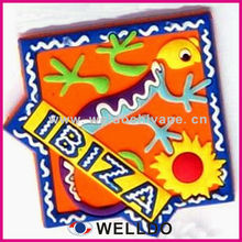 custom embossed fridge magnet manufacture