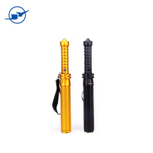 Long size multi function police security Self-defense flashlight led rechargeable