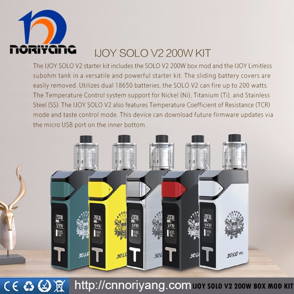 2017 Stock Offer Newest IJOY Solo V2 200W Kit hot sale in whole China