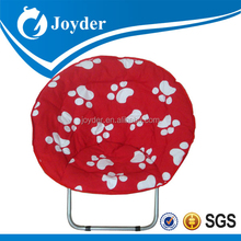outdoor portable metal folding hanging moon chair cover for kids