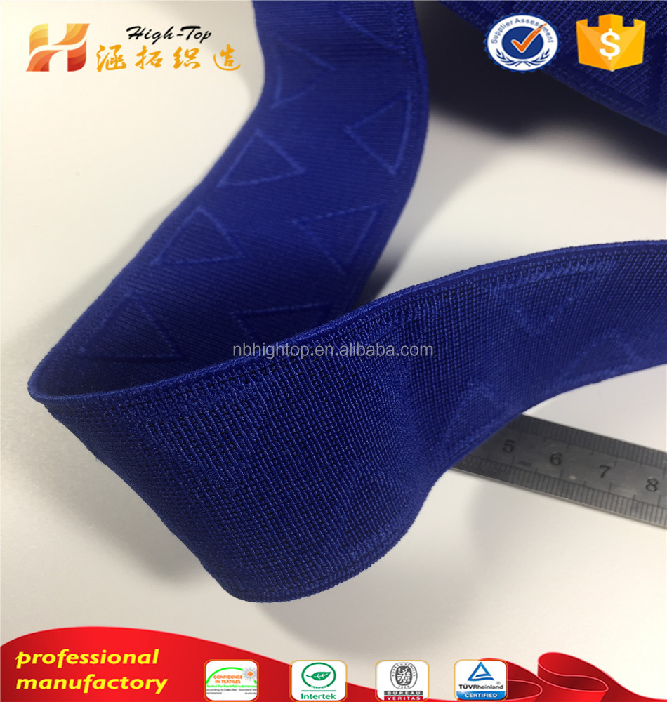 OEM custom color triangle woven nylon polyester jacquard elastic band manufacturers