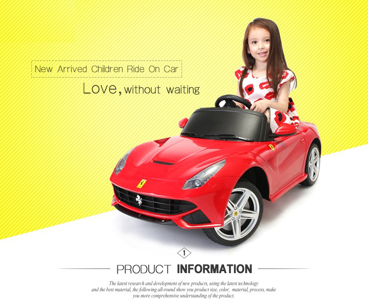 81900-Electric Children's Battery Powered with Remote Control Radio Car Licensed Ride On Car