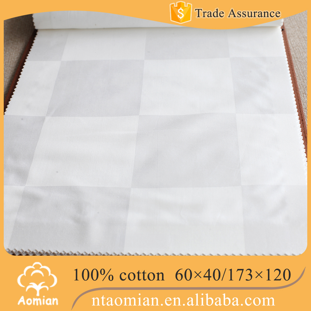 hotel collection dobby bed sheet fabric material suppliers from china