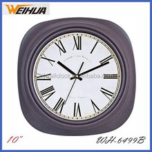 Decorative square 10 inch retro wall clock