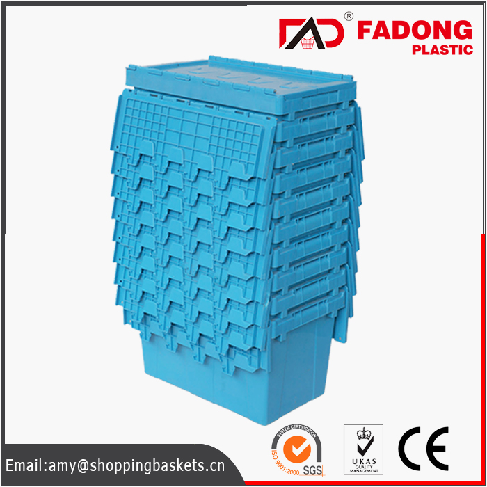 custom made plastic logistics storage boxes with lid