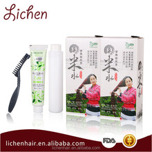 Lichen Professional Hair Products Hair Dye Grey Coverage Permanent Hair Color Cream