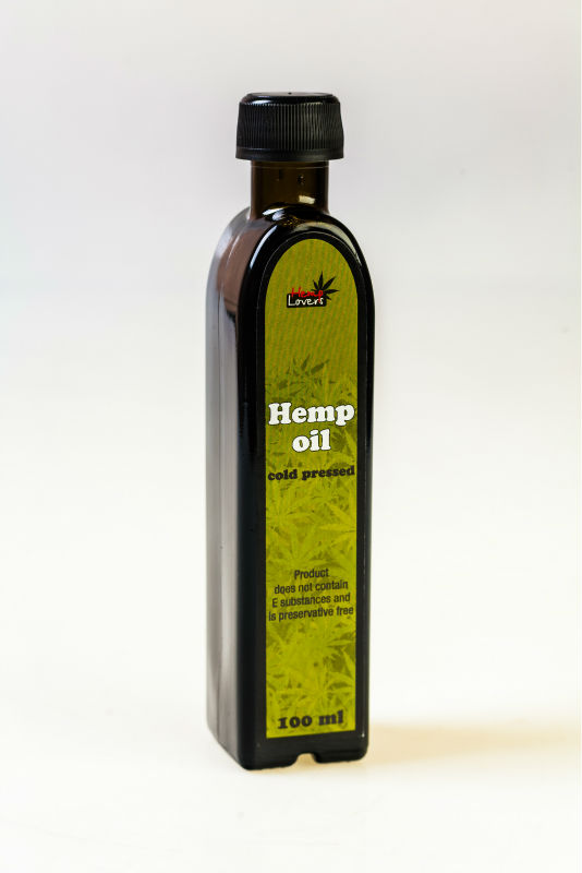 HEMP OIL in 100ml glass bottle EU Origin