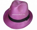New Hot Fashion excellent quality cheapPP straw fedora hat