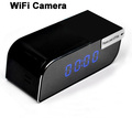 Night vision long distance wireless mini wifi camera clock support IOS Android APP (DW-T16)