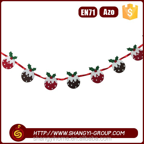Wholesale handmade christmas decorative hanging garland for stage decoration