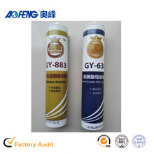 China Famous Brand Aofeng GP General Purpose One component Non-sag Elastomeric 100% RTV Neutral Cure UV Glue for Glass to Metal