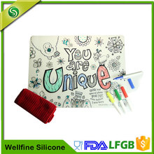 Painting Silicone Placemats For Children Supplier