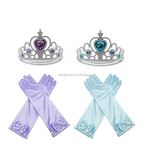 Princess dress up party accessories 2 colors gloves and Tiara crowns for children