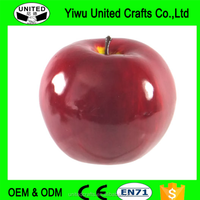 Artificial Apple Large Shiny Plastic Fruit Round Red Apples Fake