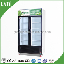 good quality and best price used glass door freezer drink showcase /sliding glass flat door chest freezer