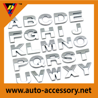China customized car adhesive plastic 3d chrome letters with OEM service