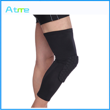 High Quality Sport knee pad Long Leg Knee Crus Support Sleeve Brace