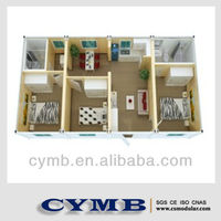 CYMB 3 bedroom prefabricated house comfortable