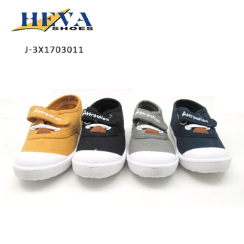 New model shoes wholesale soft canvas kids shoe