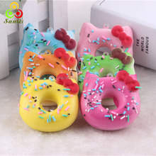 2016 New design Kawaii squishy jumbo Hello Kitty donuts phone straps/Yiwu Sanqi Craft Factory