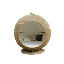 Leisure Rattan Apple Shape Outdoor Daybed