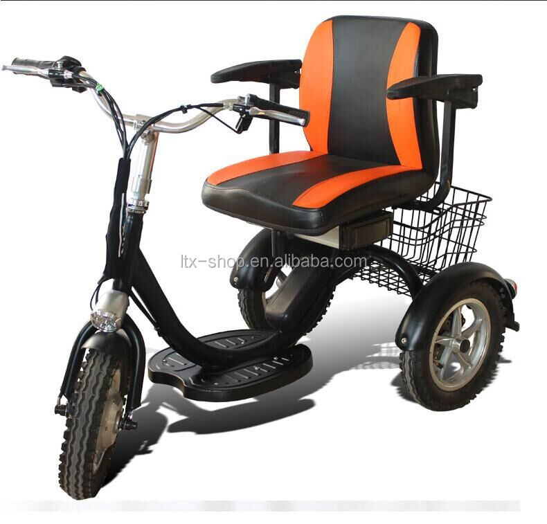 48V 250W Brushless 12inch Electric Tricycle Electric Mobility Scooter For Elder Single Seat Electric Car For Old People