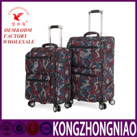 High Quality Military Fabric Trolley Luggage