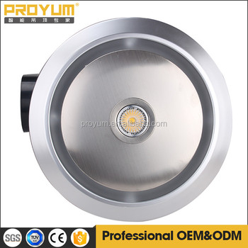 Round Shape Ceiling Mounted Bathroom Small Exhaust Fan Portable Kitchen Exhaust Fan With 50w