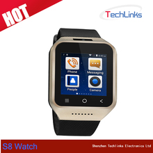 "2016 ZGPAX S8 Smart Watch 1.54"" Android 4.4 MTK6572 Dual Core Smartwatch 3G Phone Watch With GPS Wifi 2.0M Camera"