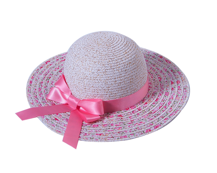 Raffia Straw Brown Lovely Straw Hats For Kids