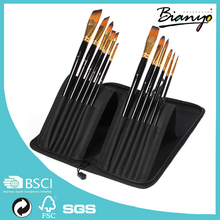 Best sell Top Quality Artists Paint Brushes, Wholesale Set of 12 Aritist Painting Brushes For Painting