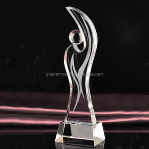 Cheap ball design Crystal Glass Trophy Award for business Souvenir gift