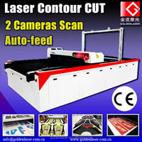 Laser Sports Clothes Cutter/Vision Printed Fabric Pattern Cut Machine