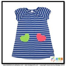 BKD summer cool stripe printing baby girl dress