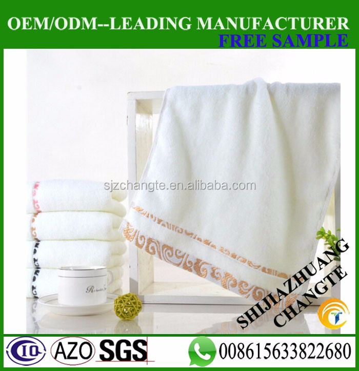 34*74cm gift hand towel 100% cotton embroidery 100gram hand towel online