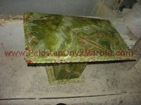 DARK GREEN ONYX TABLES