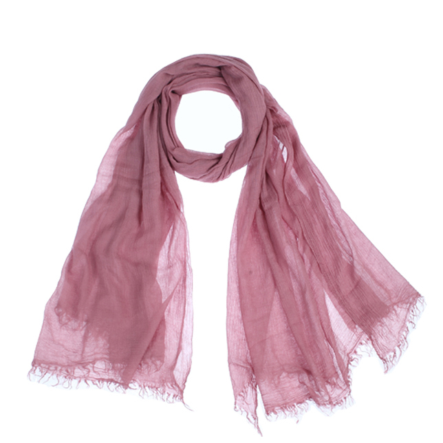 Wine Modal Fashionable Islamic Scarf Long and Crinkle