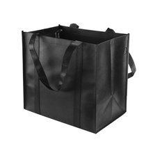 Reusable Grocery Tote Bags Black-Hold 44 lbs Large Durable, Heavy Duty Shopping Totes Grocery Bag with Reinforced Handles