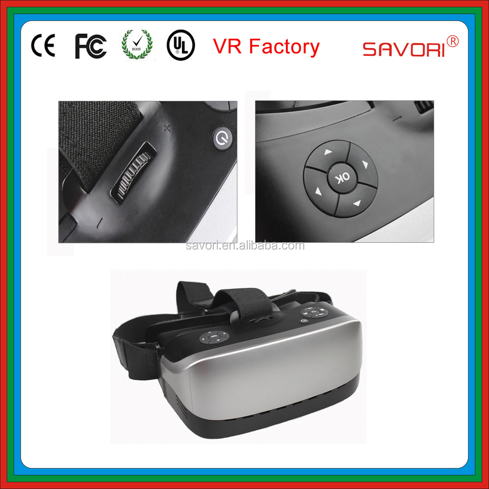 3D VR glasses VR headset from Savori, OEM all in one vr