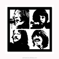Black and White Art Painting The Beatles Poster painting