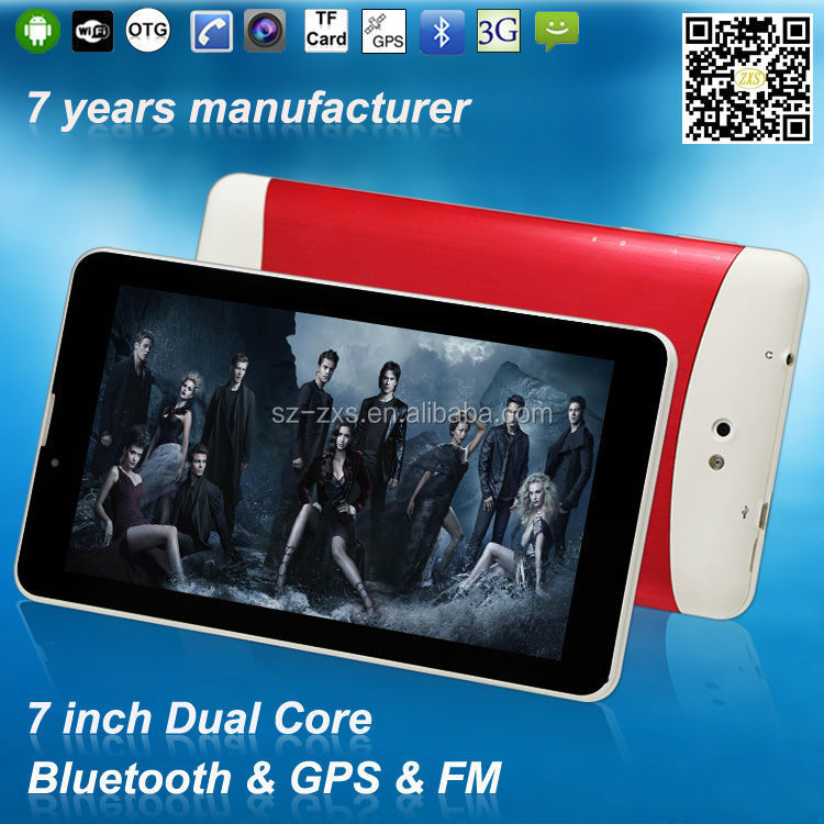wholesale android tablet pc 3G dual core mid dual sim card wifi phone 7 inch leather case tablet
