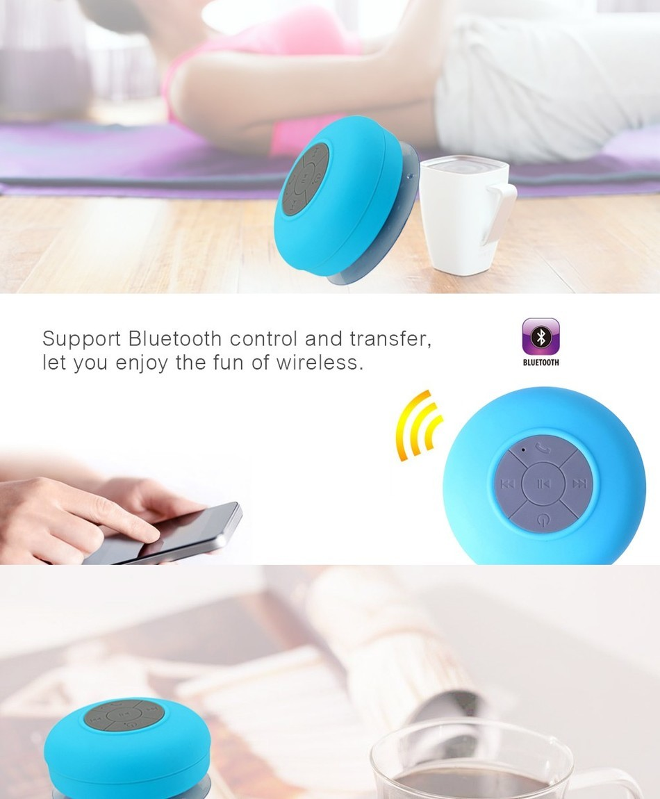 Portable Waterproof Bluetooth Speaker Shower Wireless speaker for iphone for samsung Receive Call Music Suction Speakers