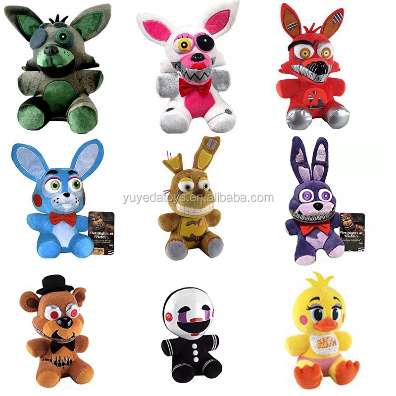 Newest FNAF Five Nights At Freddy's Foxy Bonnie Chica plush toy